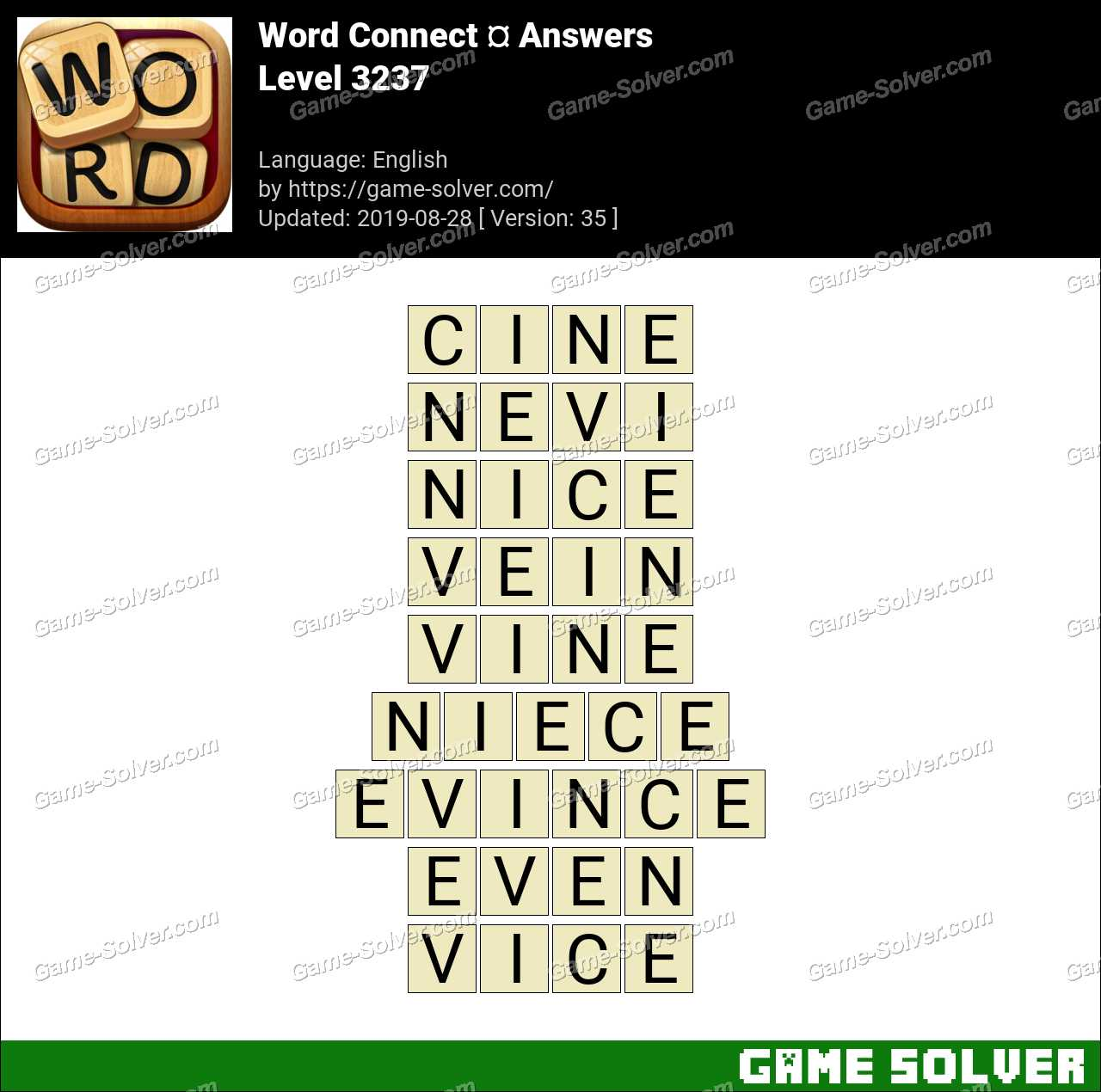 Word Connect Level 3237 Answers