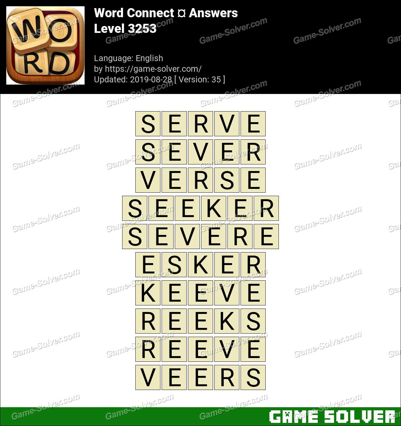 Word Connect Level 3253 Answers