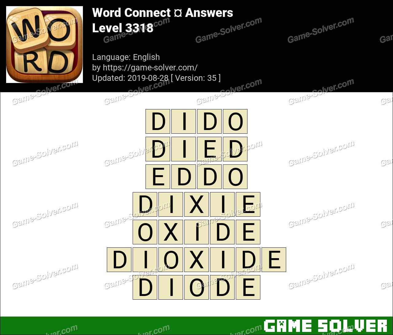 Word Connect Level 3318 Answers