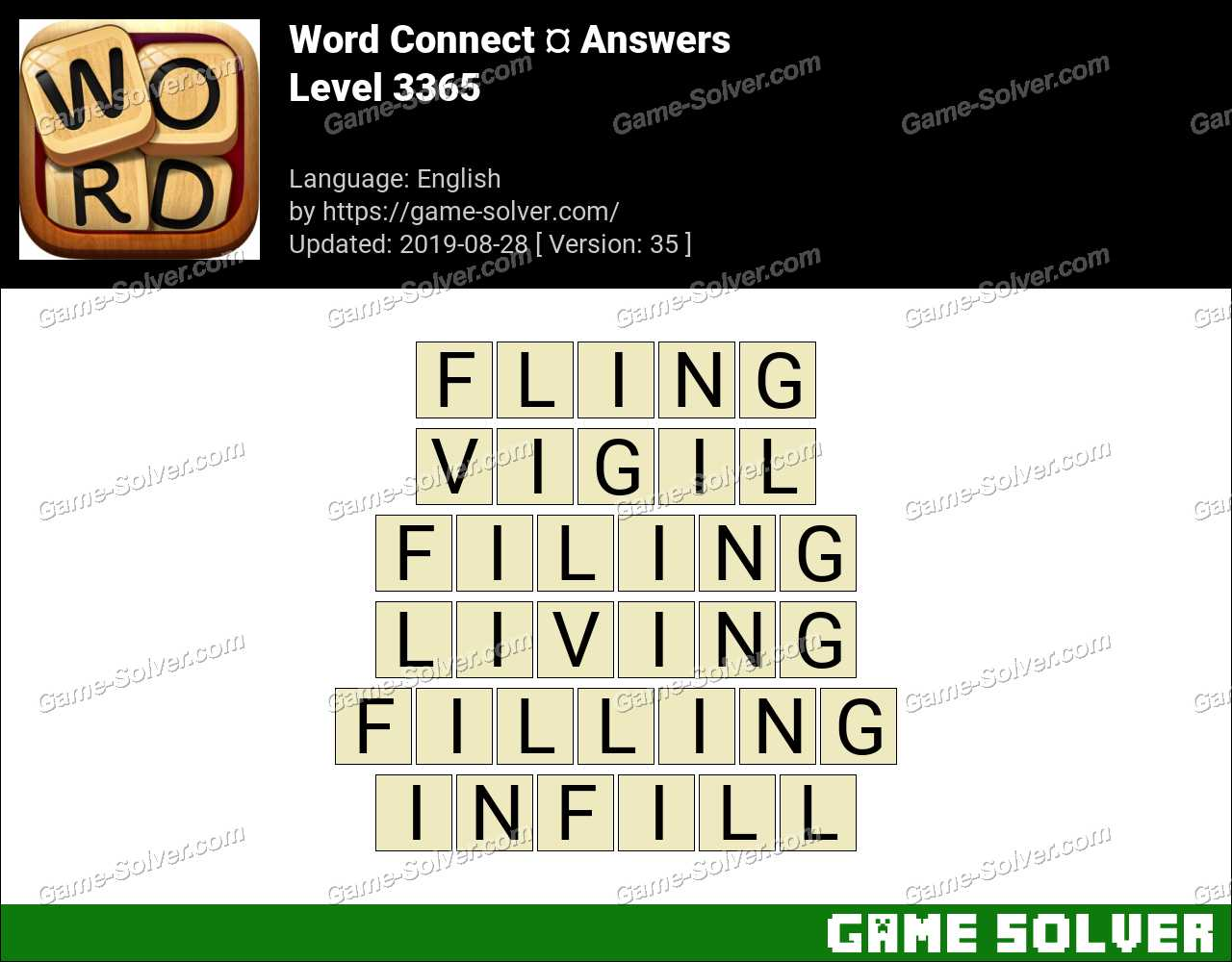 Word Connect Level 3365 Answers
