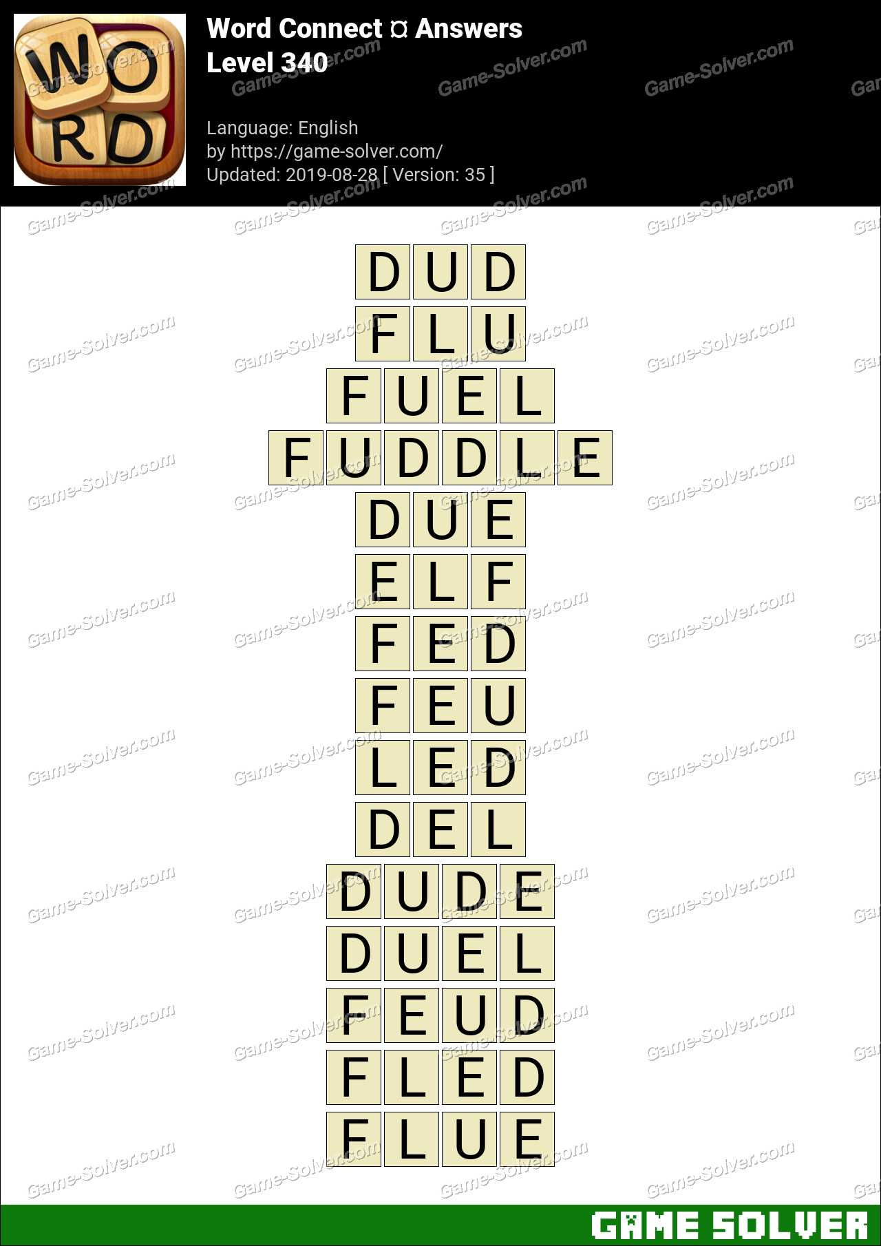 Word Connect Level 340 Answers