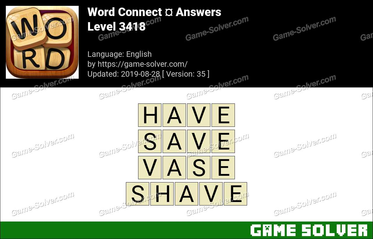 Word Connect Level 3418 Answers