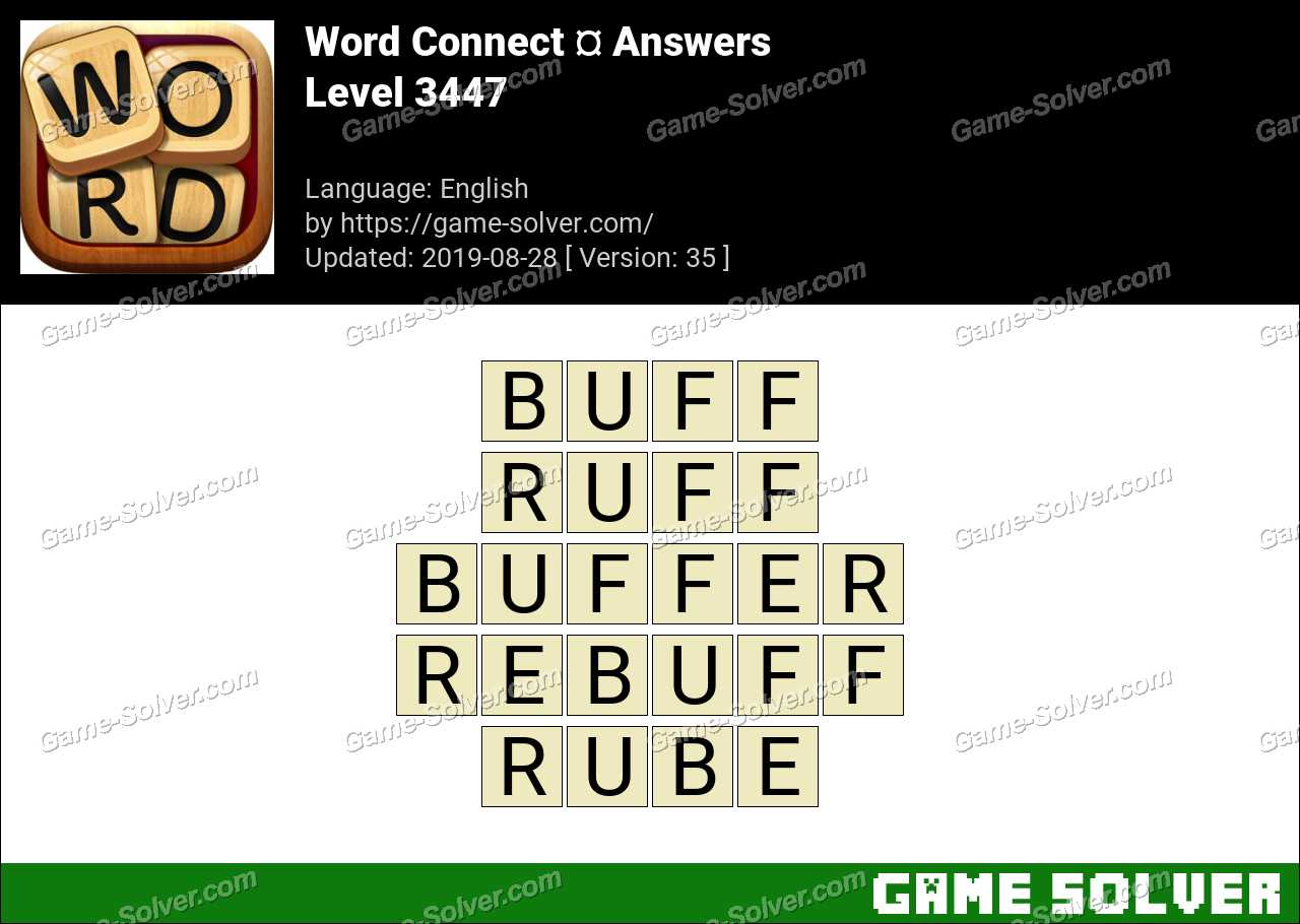 Word Connect Level 3447 Answers