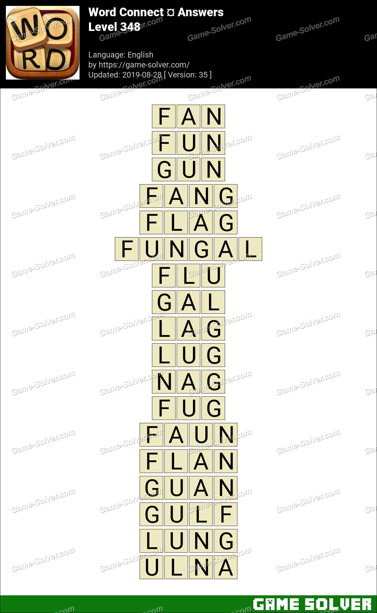 Word Connect Level 348 Answers