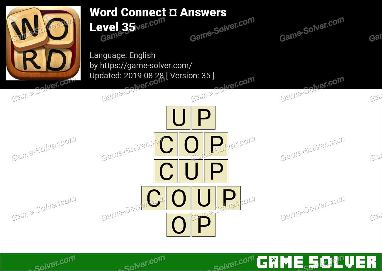 Word Connect Level 35 Answers