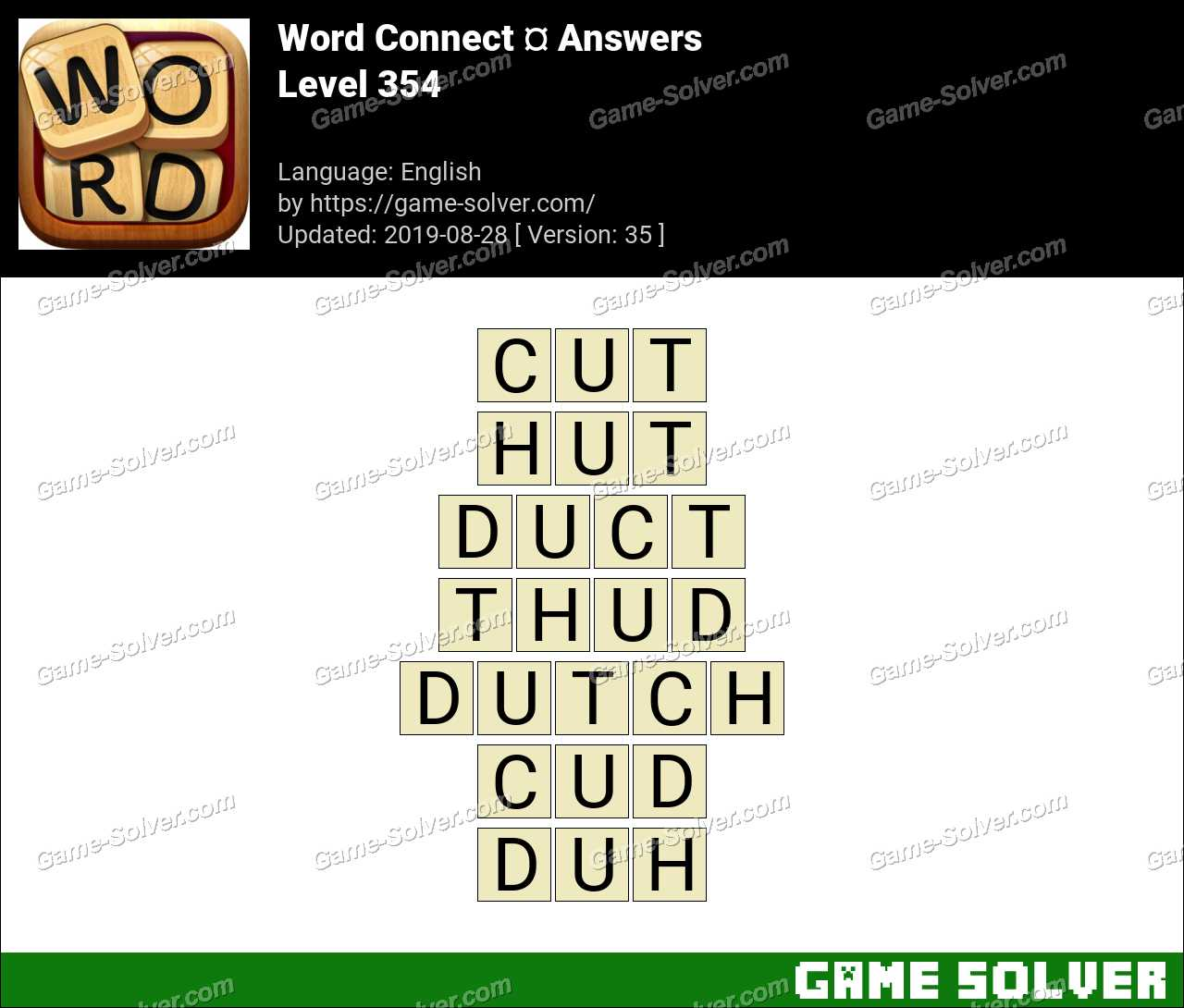 Word Connect Level 354 Answers