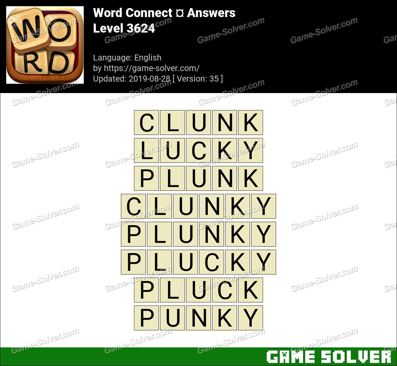 Word Connect Level 3624 Answers