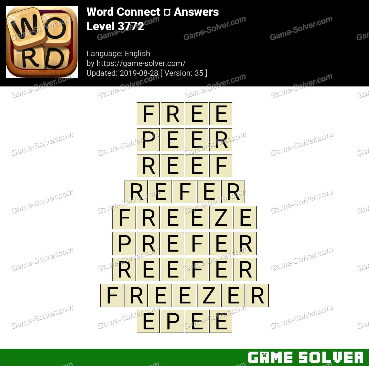 Word Connect Level 3772 Answers