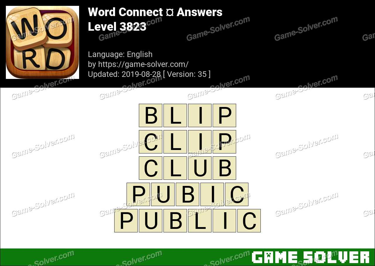 Word Connect Level 3823 Answers