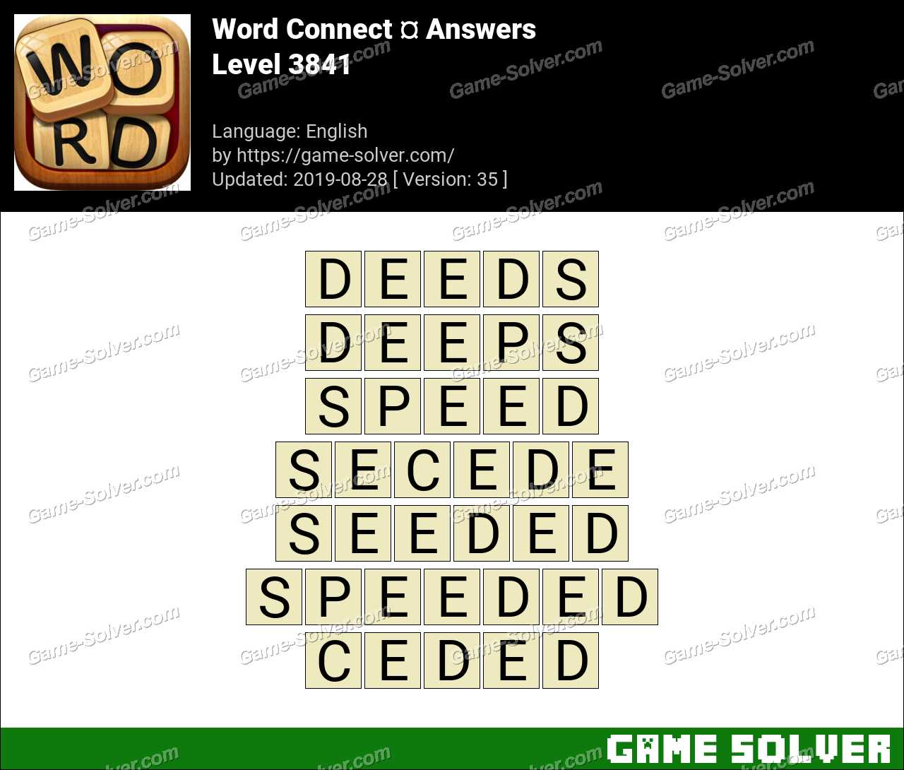 Word Connect Level 3841 Answers