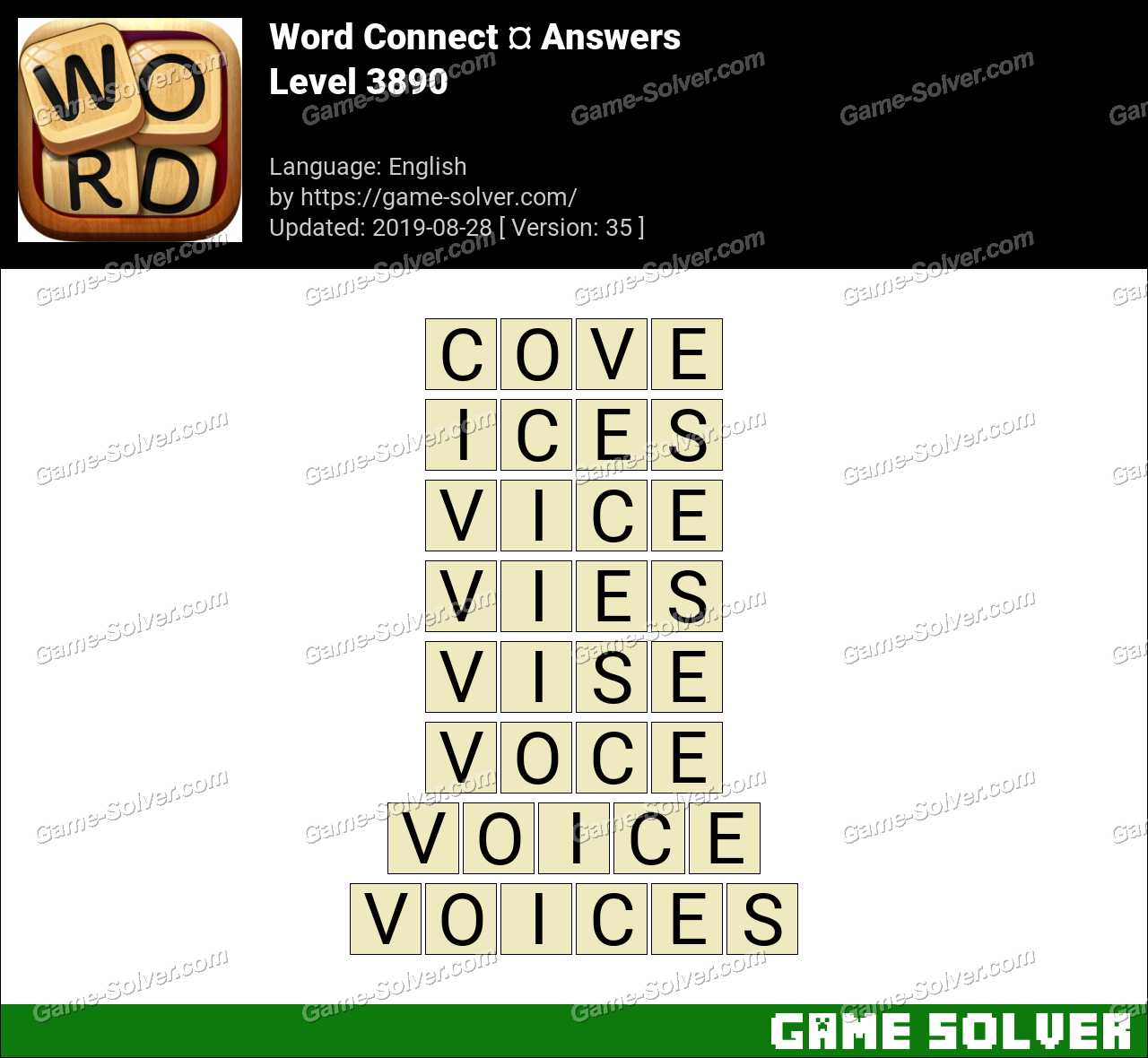Word Connect Level 3890 Answers