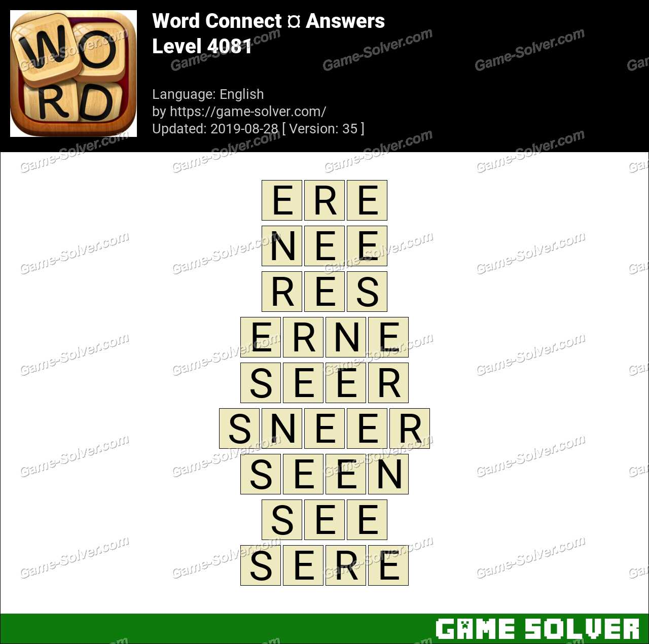 Word Connect Level 4081 Answers