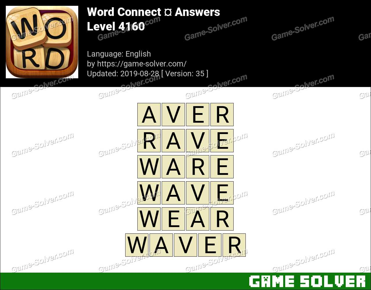 Word Connect Level 4160 Answers