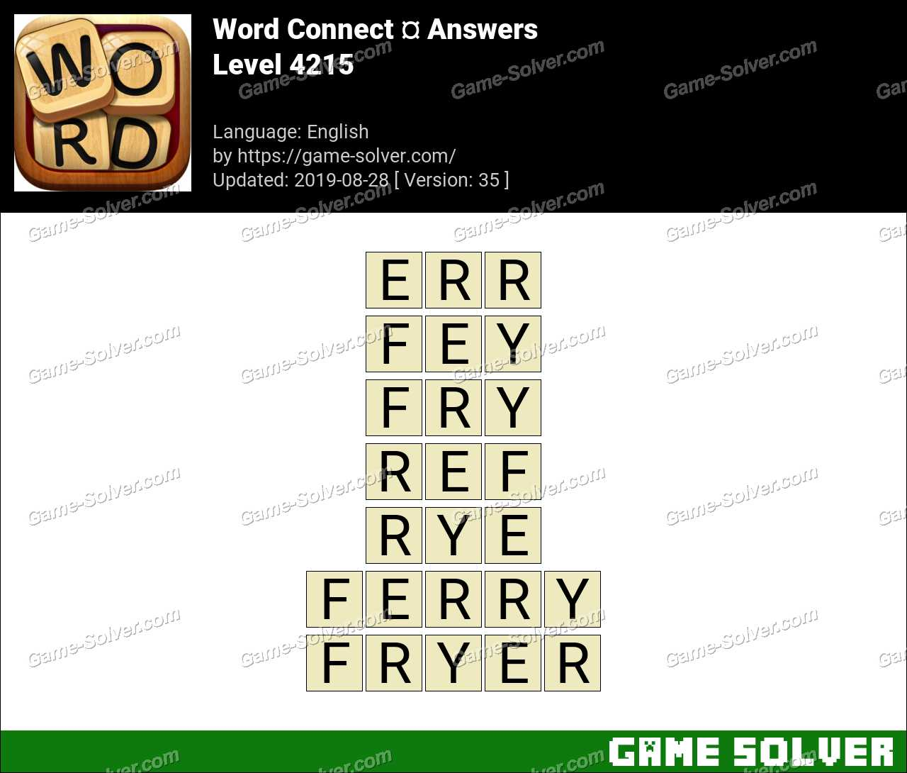 Word Connect Level 4215 Answers
