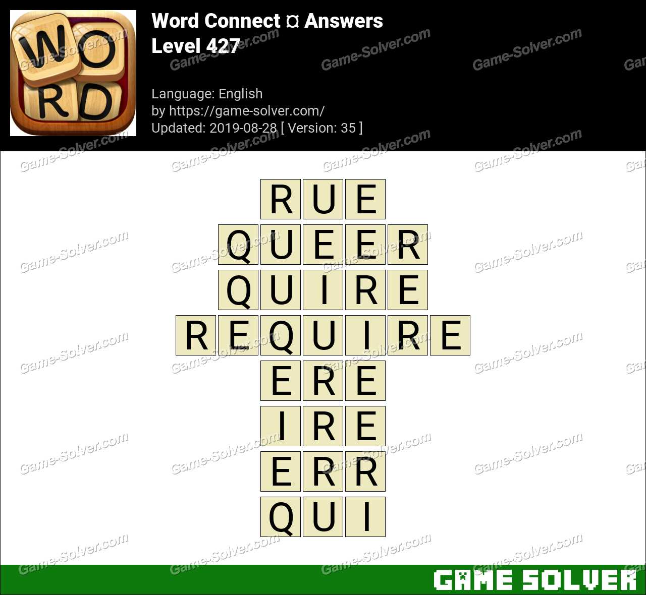 Word Connect Level 427 Answers