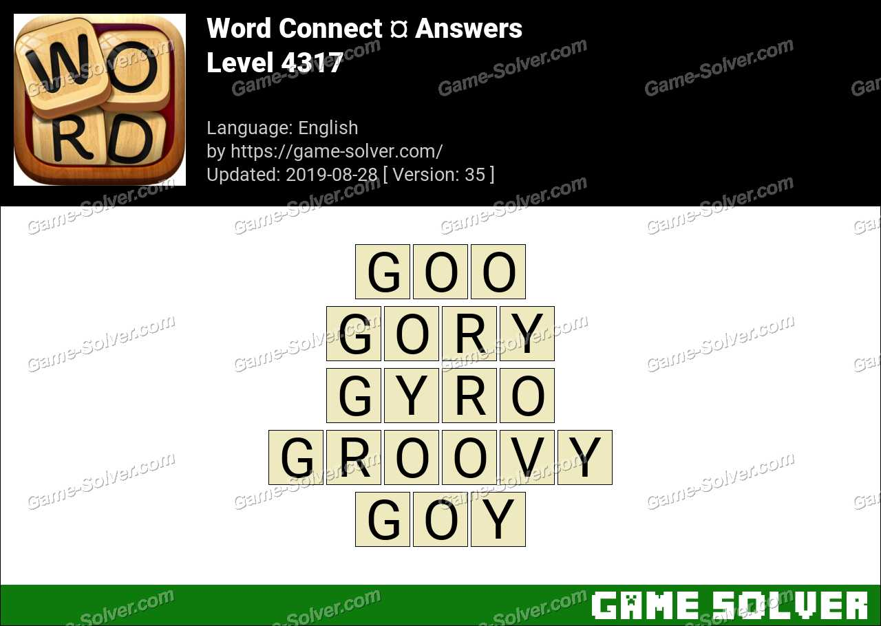 Word Connect Level 4317 Answers