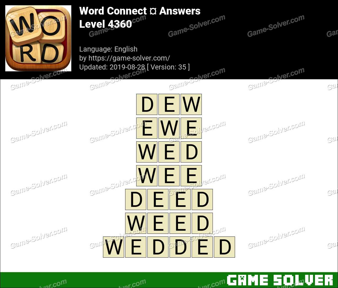 Word Connect Level 4360 Answers