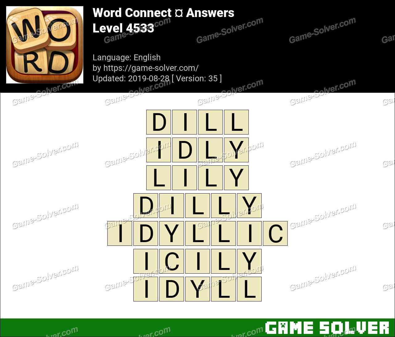 Word Connect Level 4533 Answers