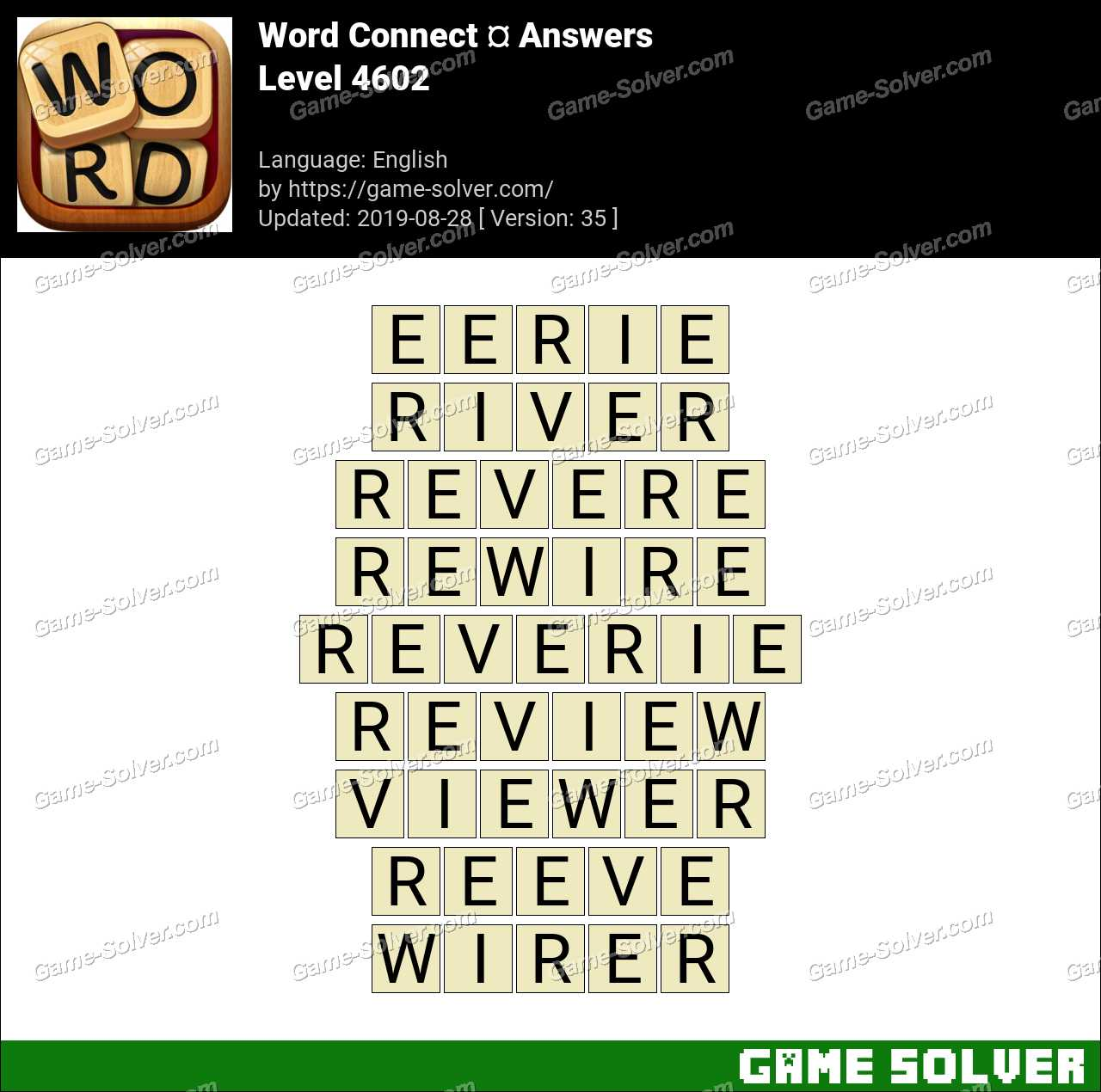 Word Connect Level 4602 Answers
