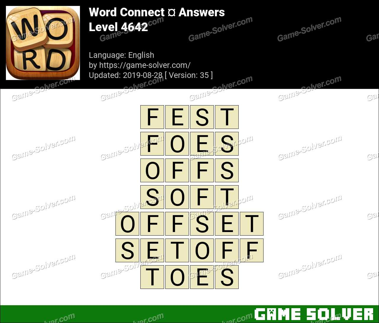 Word Connect Level 4642 Answers