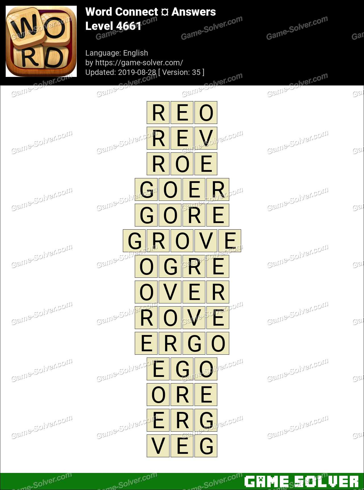 Word Connect Level 4661 Answers