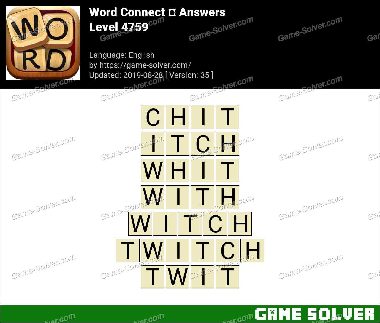 Word Connect Level 4759 Answers