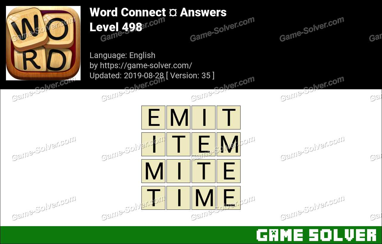 Word Connect Level 498 Answers