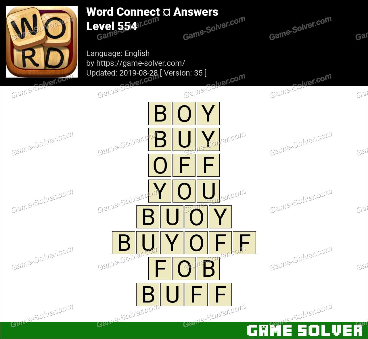 Word Connect Level 554 Answers