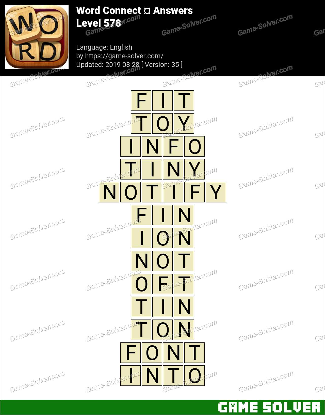 Word Connect Level 578 Answers