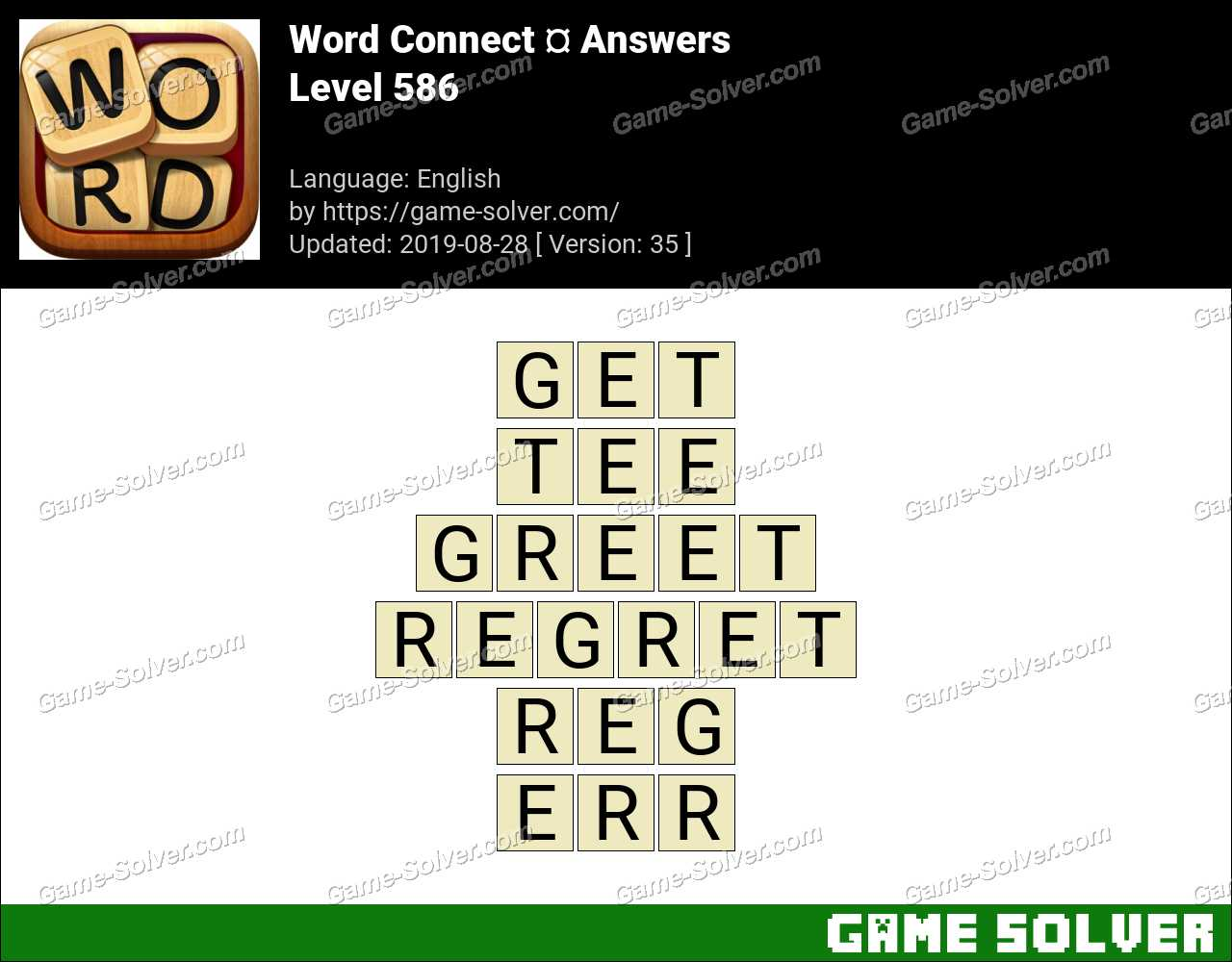 Word Connect Level 586 Answers