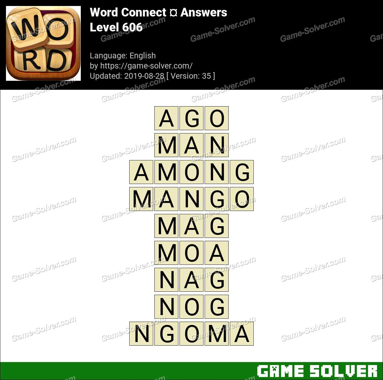 Word Connect Level 606 Answers