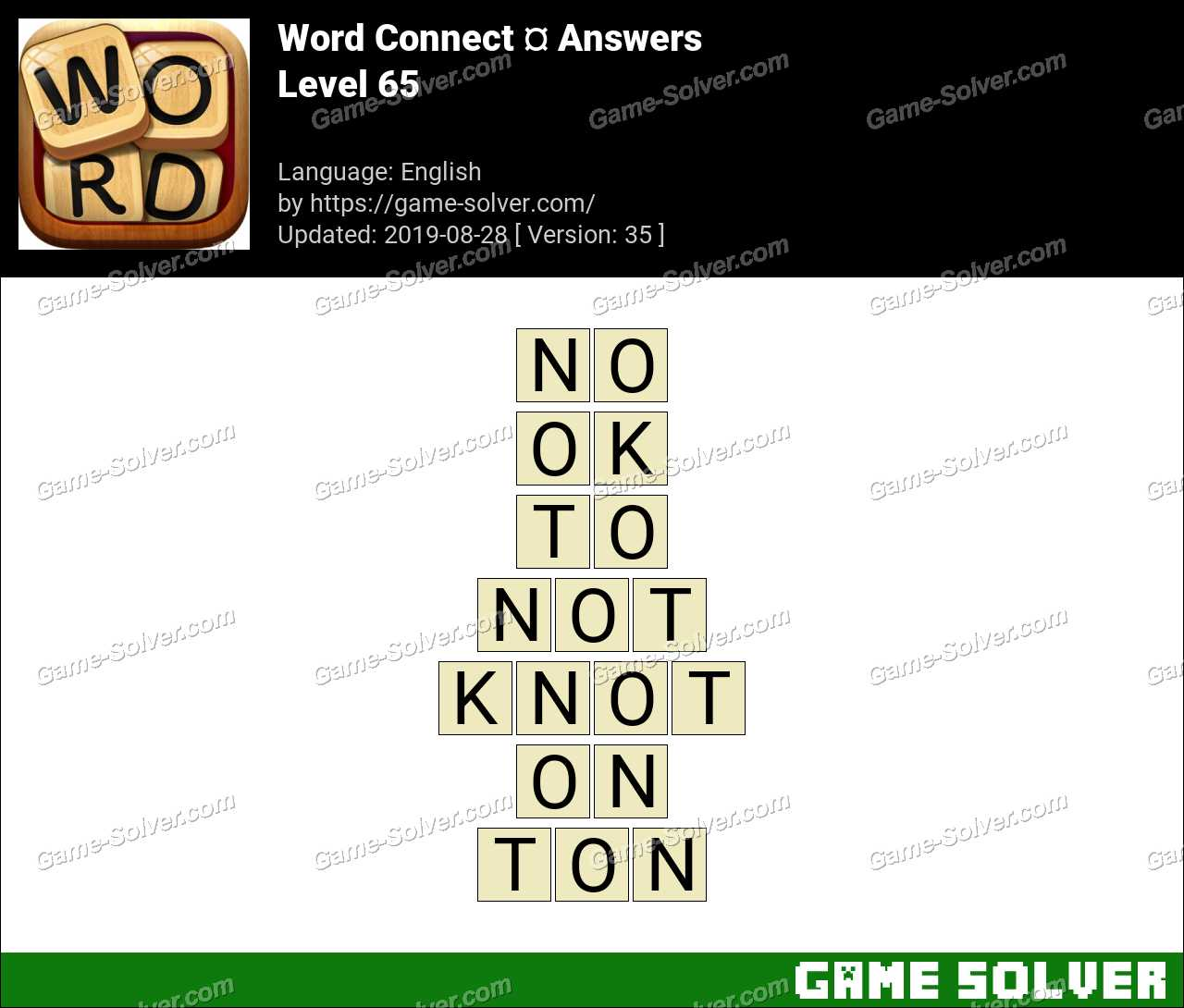 Word Connect Level 65 Answers