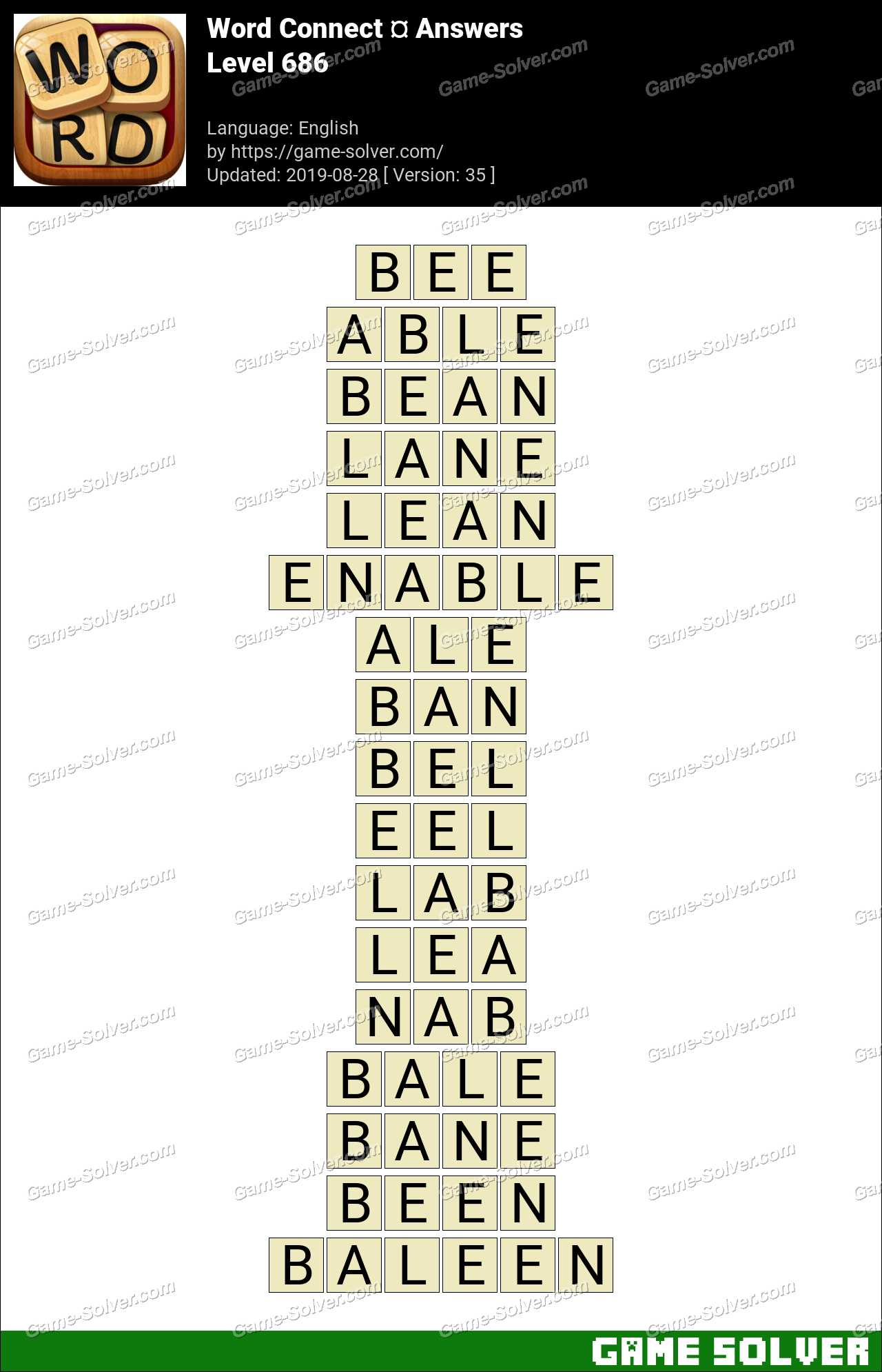 Word Connect Level 686 Answers