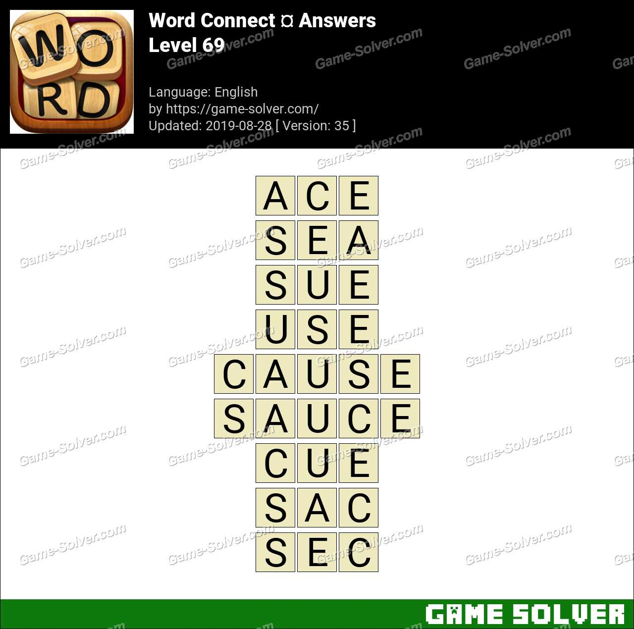 Word Connect Level 69 Answers