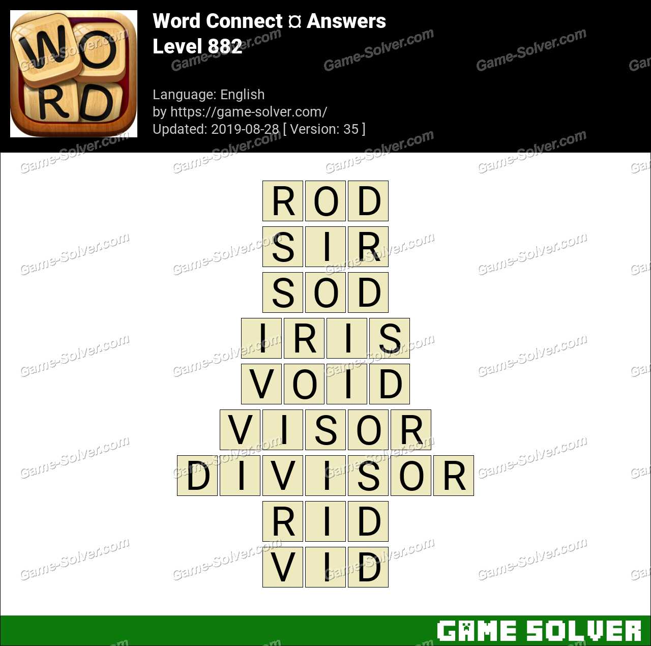 Word Connect Level 882 Answers
