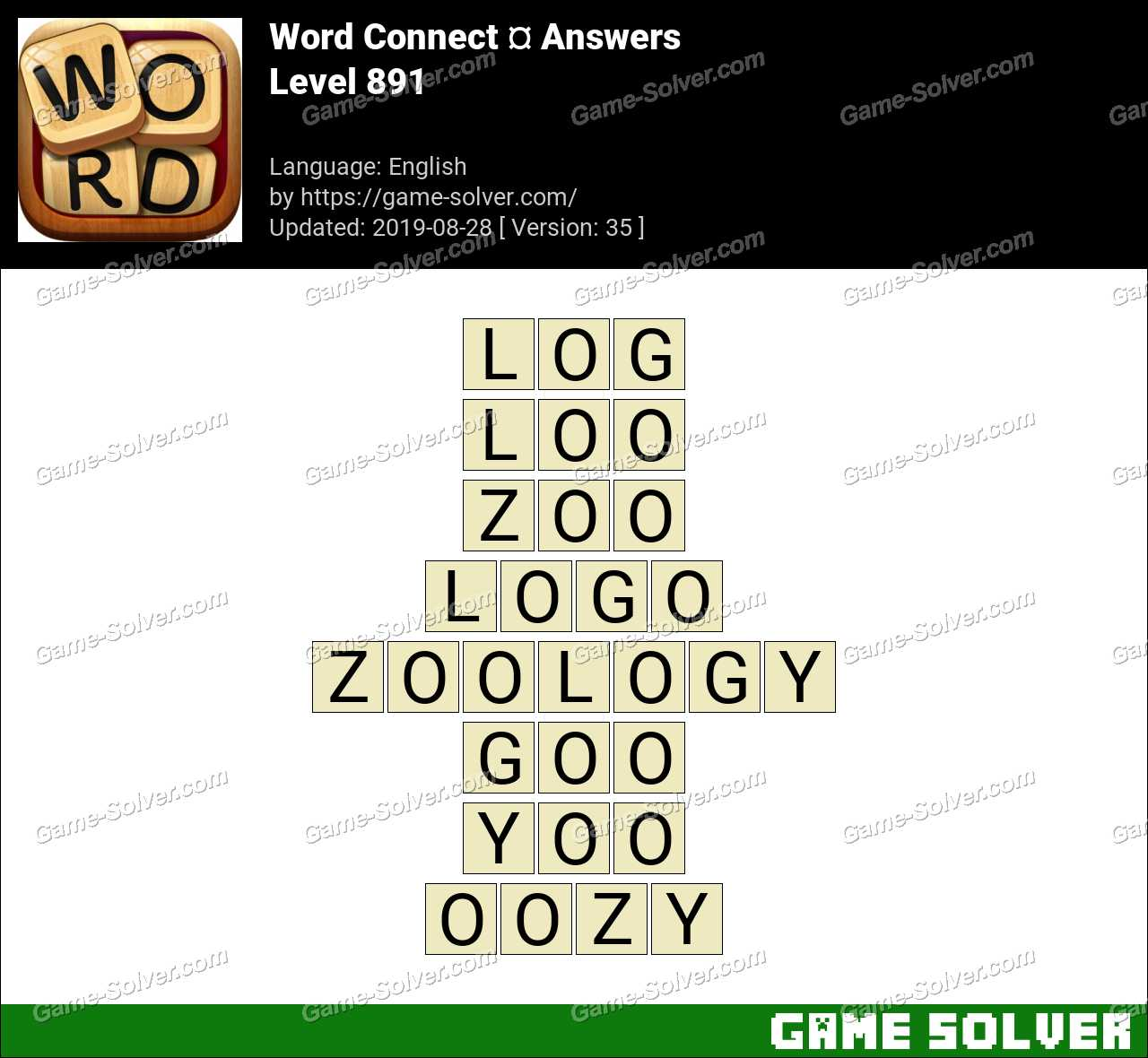 Word Connect Level 891 Answers