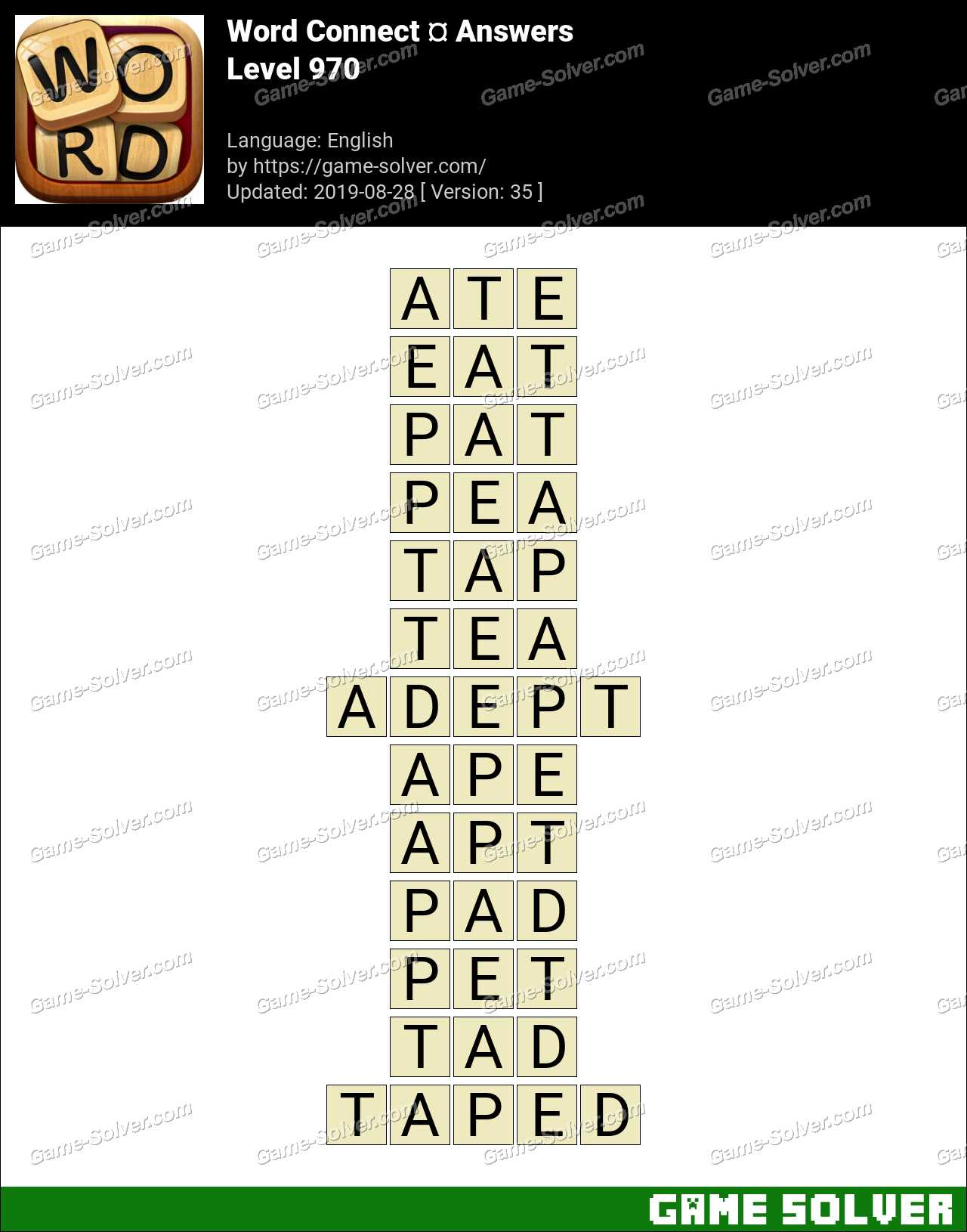 Word Connect Level 970 Answers