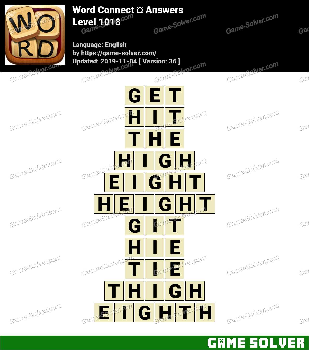 Word Connect Level 1018 Answers