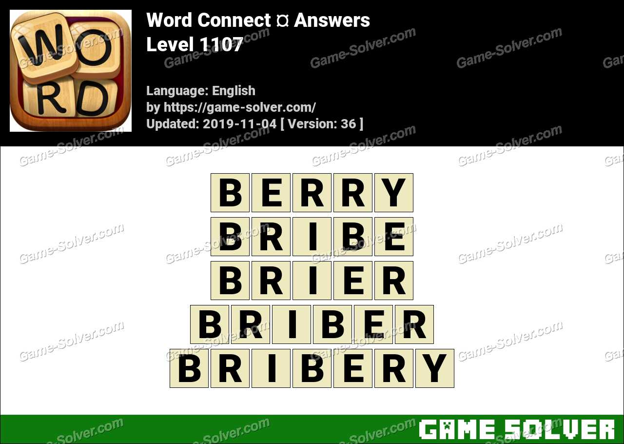 Word Connect Level 1107 Answers