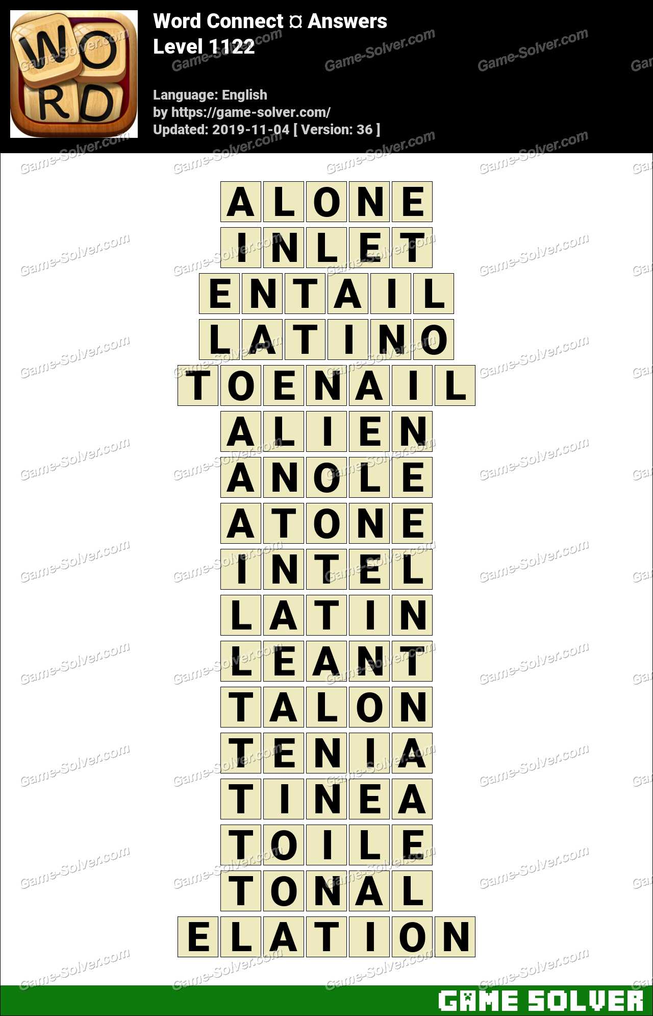 Word Connect Level 1122 Answers