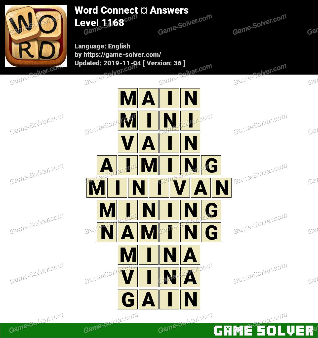 Word Connect Level 1168 Answers