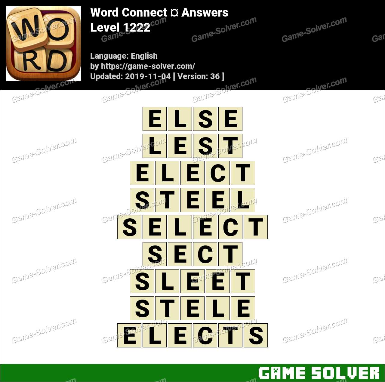 Word Connect Level 1222 Answers