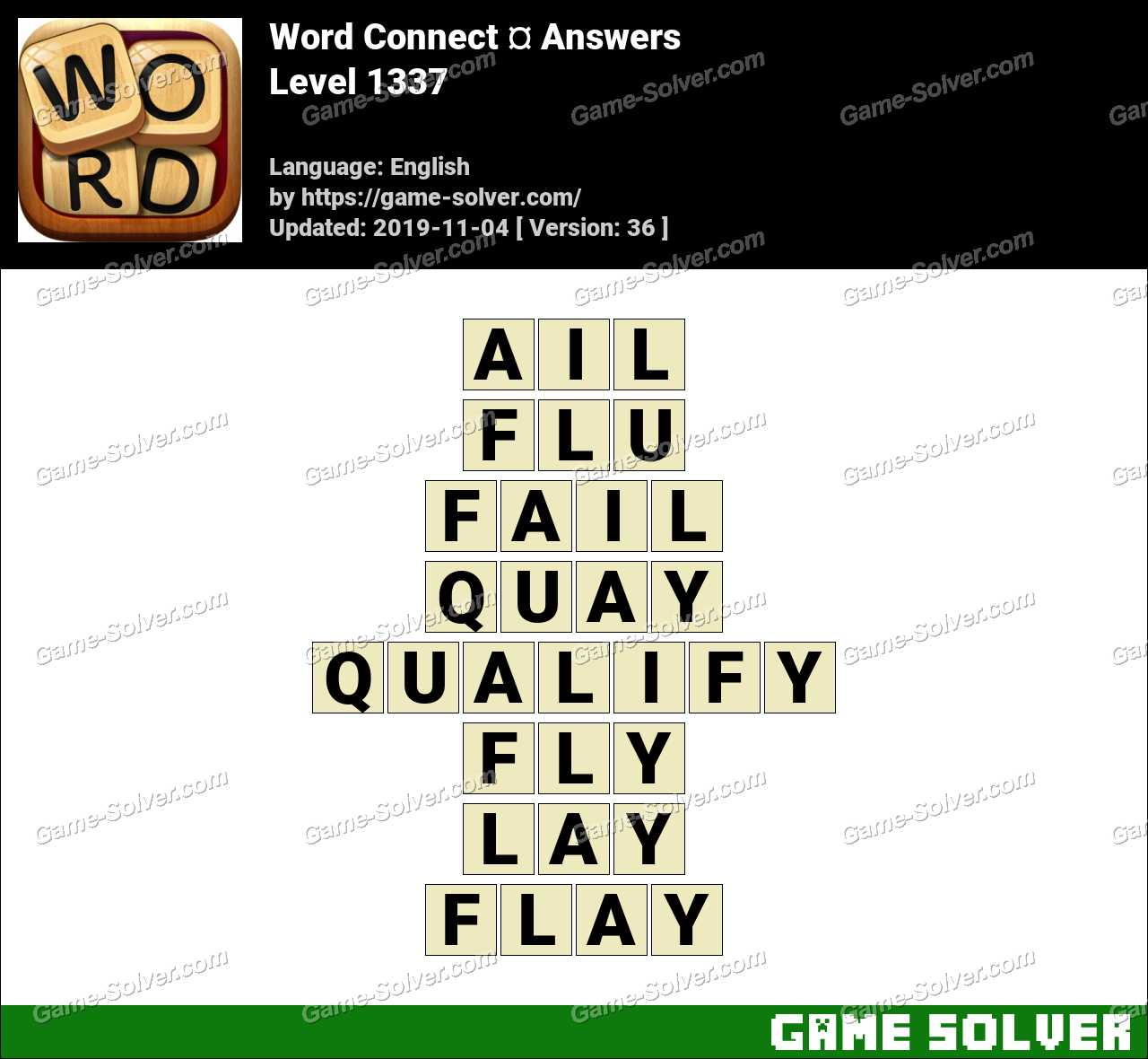 Word Connect Level 1337 Answers