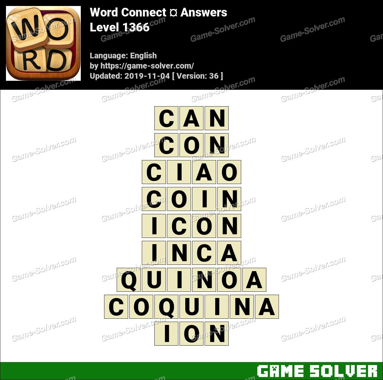 Word Connect Level 1366 Answers