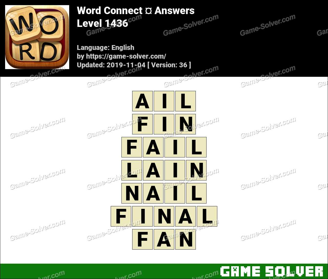 Word Connect Level 1436 Answers