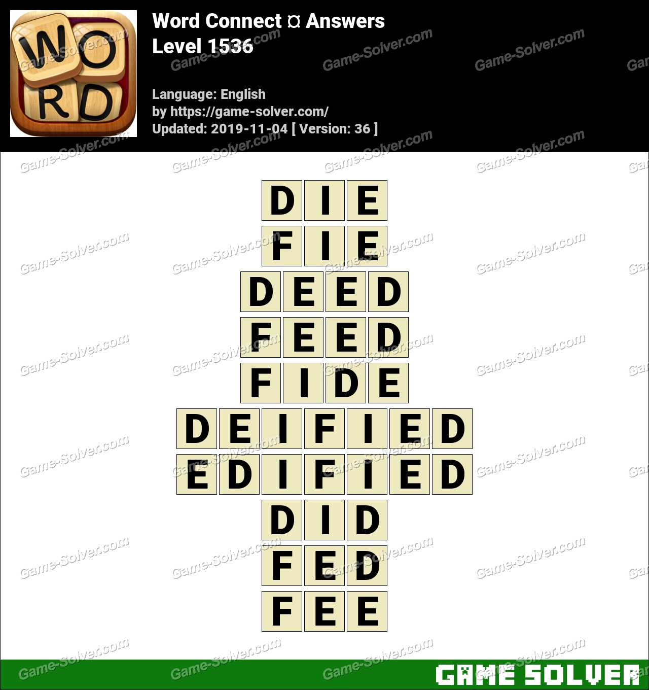 Word Connect Level 1536 Answers