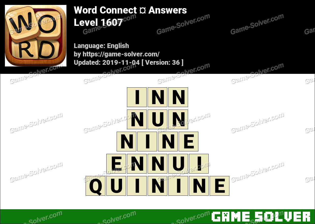 Word Connect Level 1607 Answers