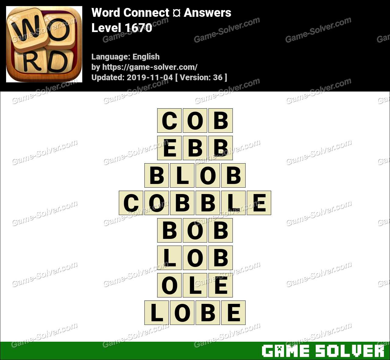 Word Connect Level 1670 Answers