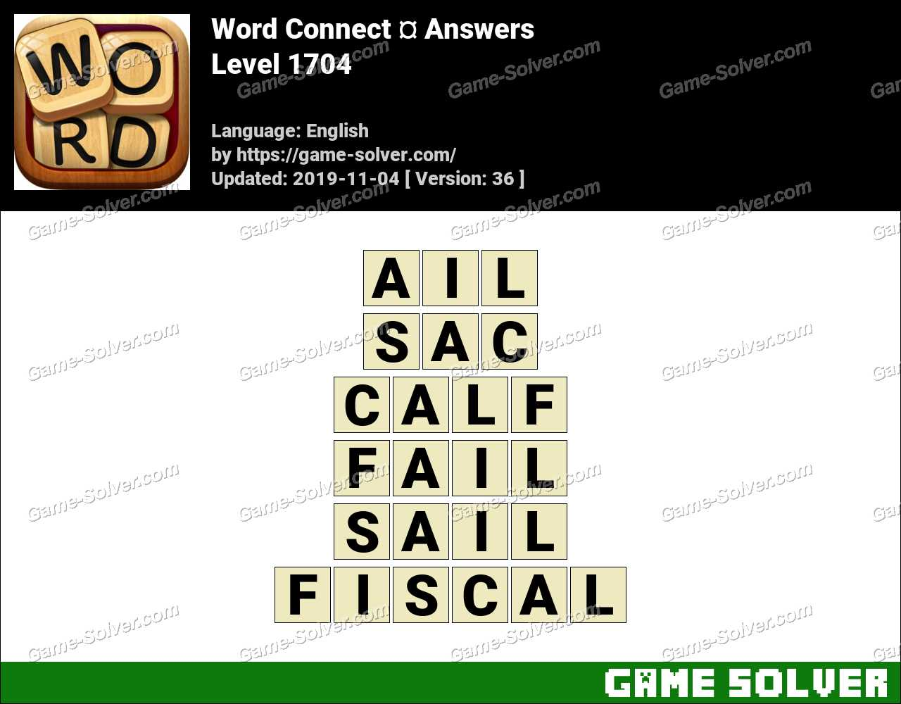 Word Connect Level 1704 Answers