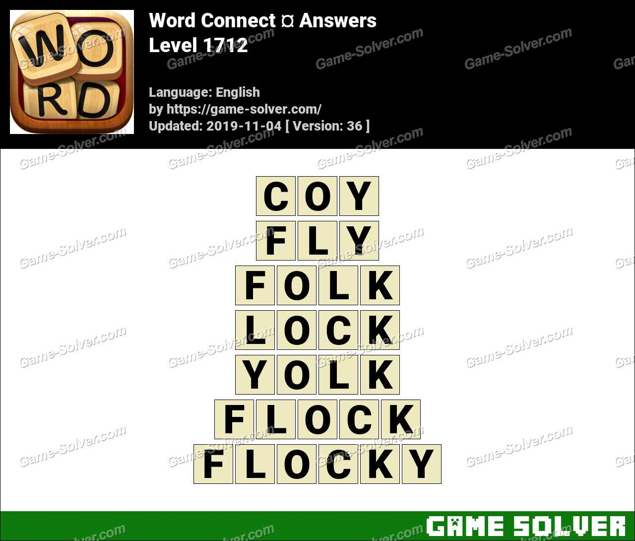 Word Connect Level 1712 Answers